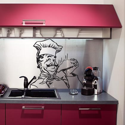 Stickers muraux cuisine sticker cuisine frigo stickers muralstickers mural - Leroy merlin stickers cuisine ...