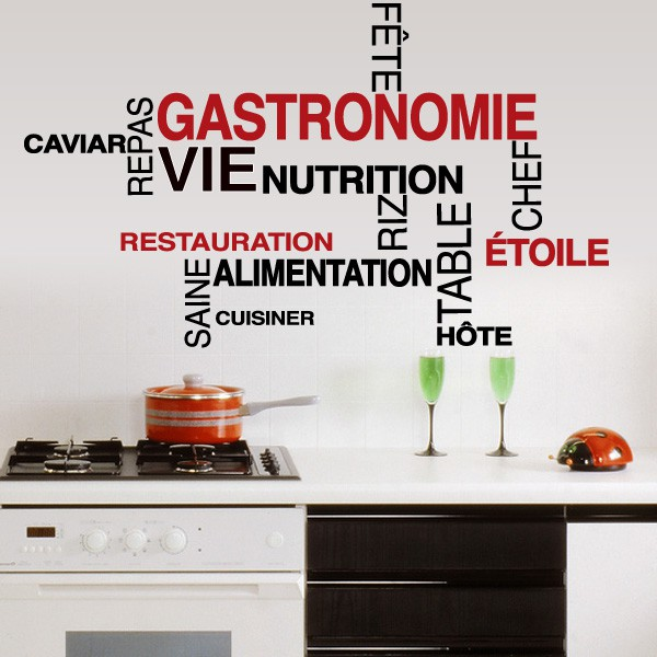 Stickers muraux cuisine sticker cuisine frigo stickers for Stickers pour faience cuisine