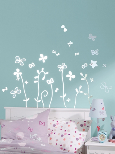 Stickers chambre de b b stickers mural chambre fille for Stickers chambre fille
