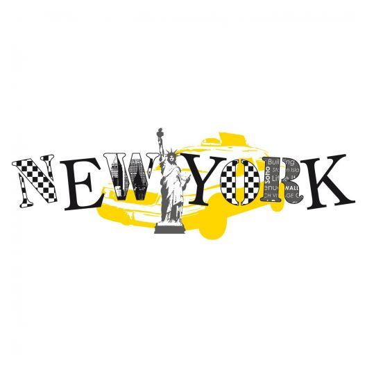 les stickers new york tendances stickers muralstickers mural. Black Bedroom Furniture Sets. Home Design Ideas