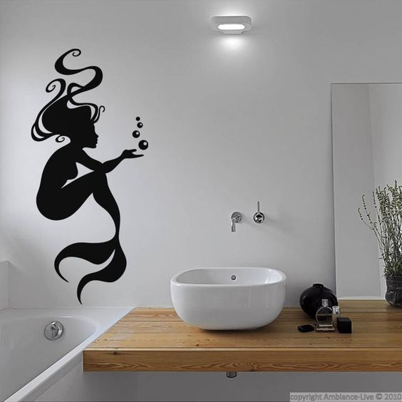 decorer sa salle de bain avec des stickers. Black Bedroom Furniture Sets. Home Design Ideas