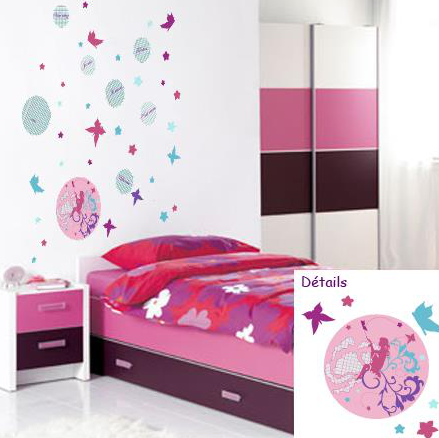 Sticker criture pose sticker muralstickers mural - Stickers ecriture chambre ...