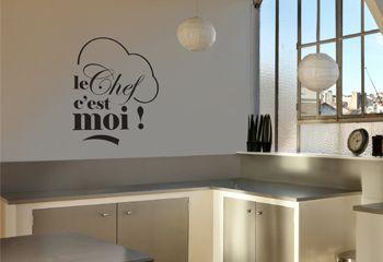 Sticker pour cuisine : Le Chef, 12,00 € sur www.decorecebo.fr