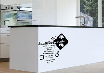 Sticker cuisine recette Mojito, 24,00€, www.decorecebo.fr